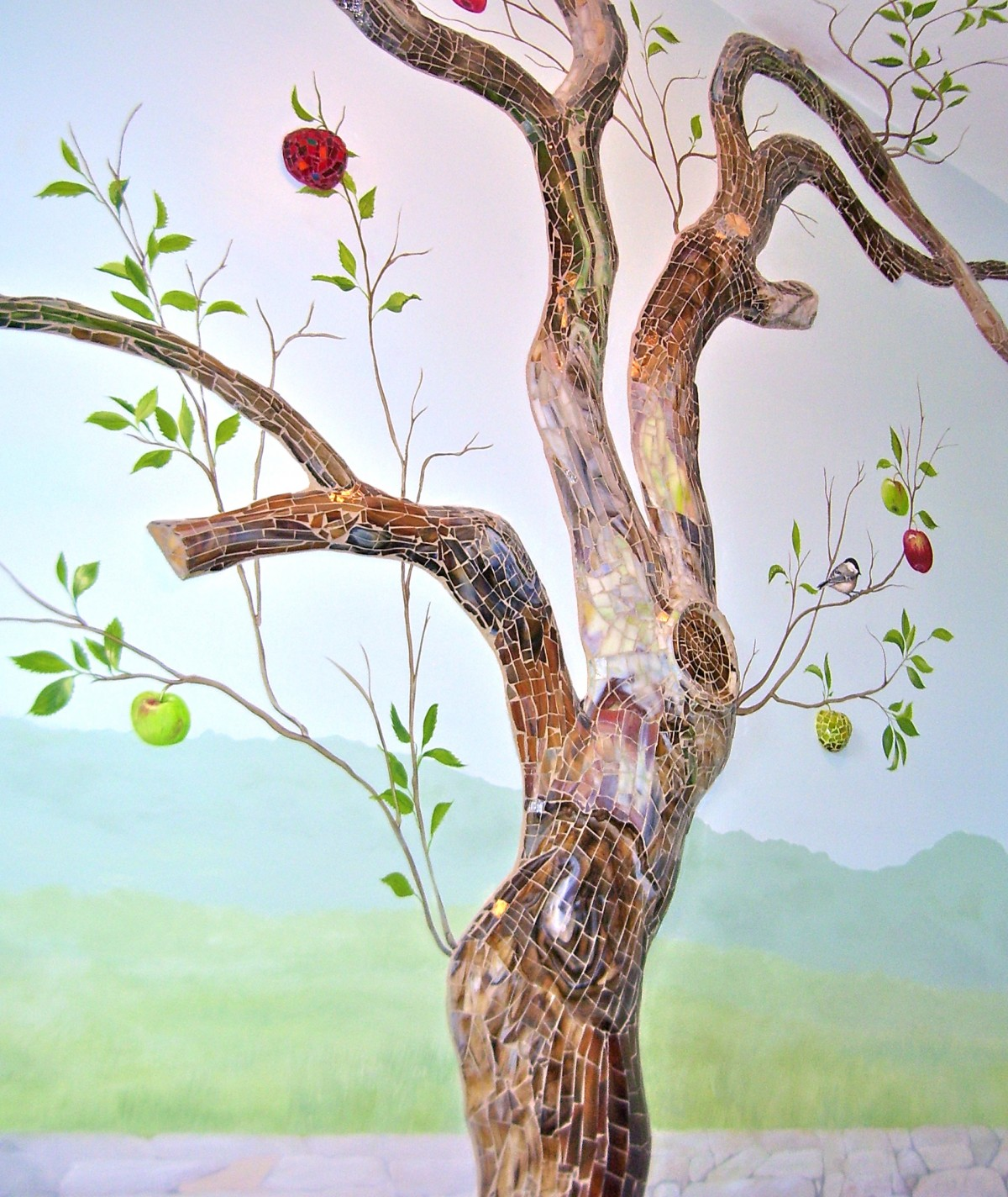 Custom handpainted murals hand painted trees tree murals for Apple tree mural