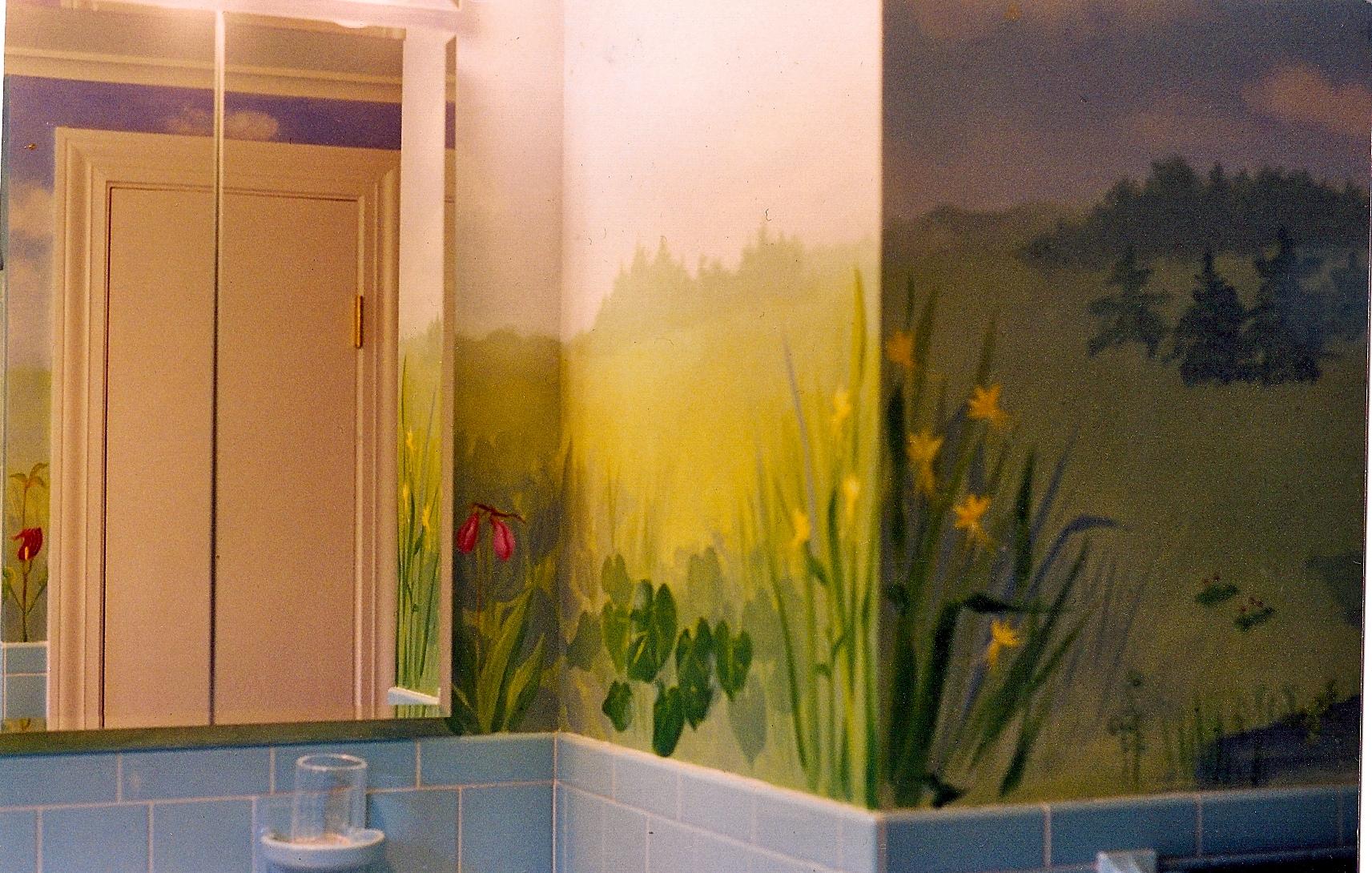 Custom handpainted murals hand painted flower murals for Ad garden rooms