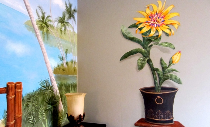 Custom Handpainted Murals Hand Painted Flower Murals