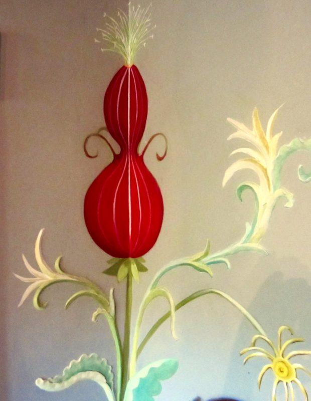 corner flower pod