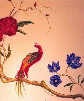 Custom Handpainted Murals Hand Painted Flower Murals